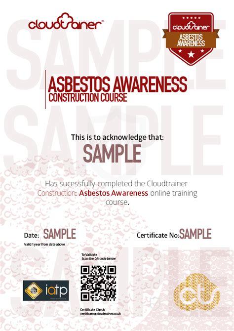 asbestos awareness training dmg
