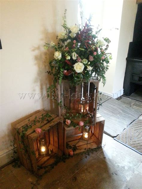crate layout   side  ceremony alter rustic