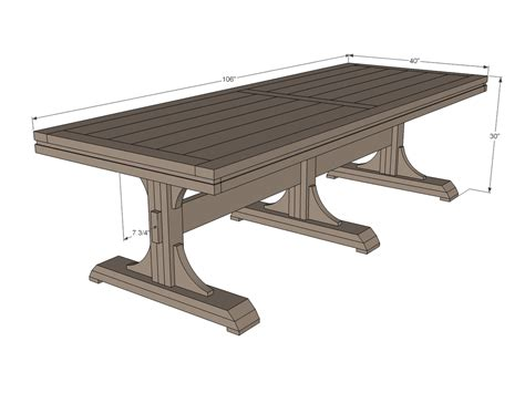 triple pedestal farmhouse table ana white