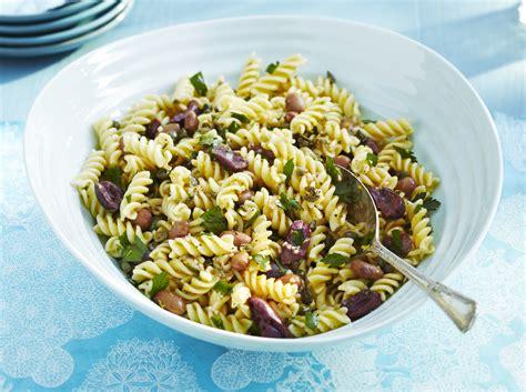 quick  easy pasta  bean salad recipe