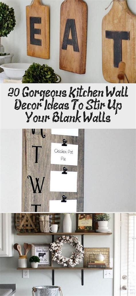 26+ Engaging Kitchen Empty Wall Ideas