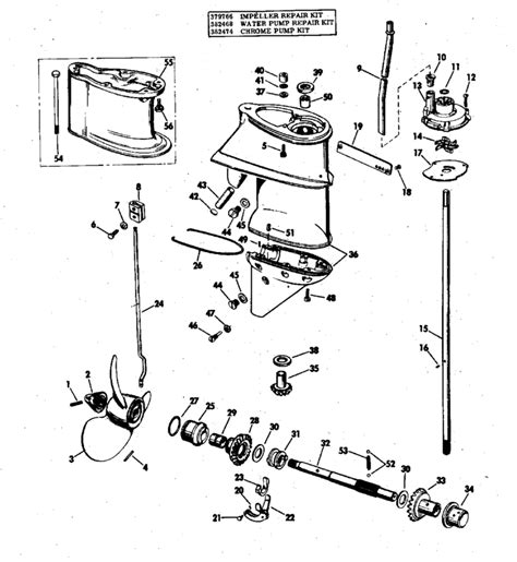 20 Hp Johnson Outboard Diagram by 1973 Mercury 20 Hp Outboard Parts Diagram