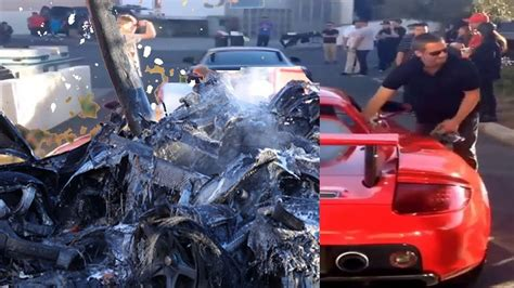 BEFORE & AFTER Paul Walker accident crash video - YouTube