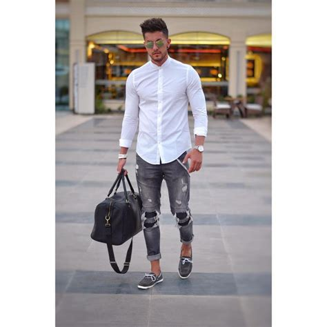 Men White Shirt Styling Tips Outfit Ideas