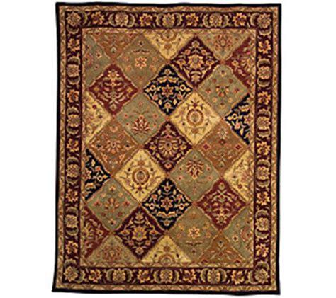 qvc rugs clearance royal palace kirman 7x9 multicolored 80l handmade wool rug