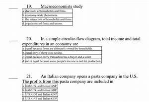In A Simple Circular Flow Diagram Total Income And Total