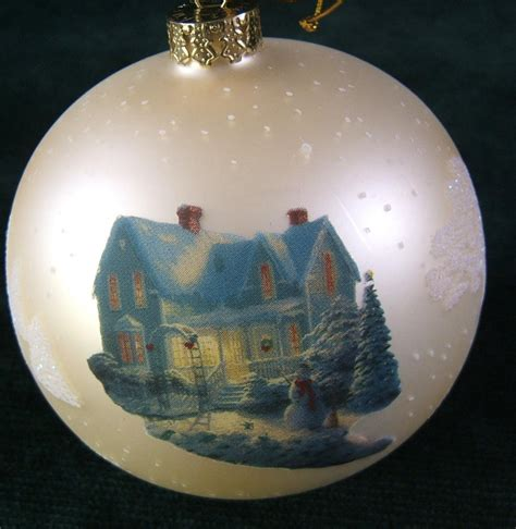 thomas kinkade quot blessings of christmas quot tree ornament ebay