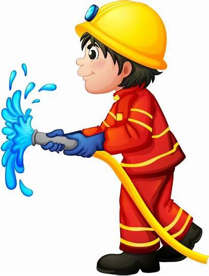 Clipart Fire Trabajador Fighter Fireman Transparent Department