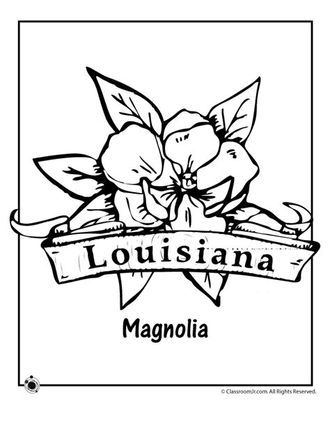 Louisiana State Symbols Coloring Pages Eskayalitim