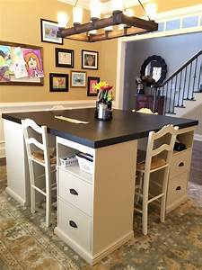 Ana White Four station desk (PB inspired) - DIY Projects