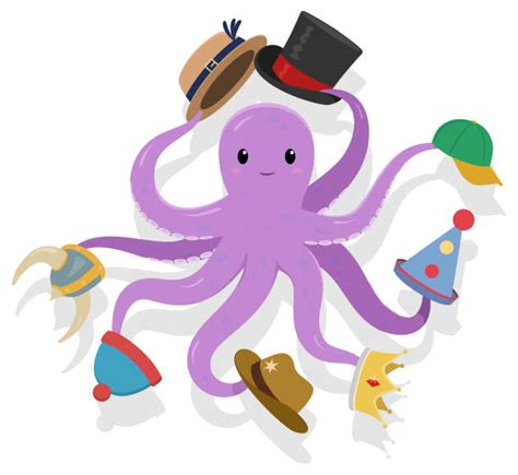 trades jack octopus vector clip hats illustration illustrations hat bobble acting performance