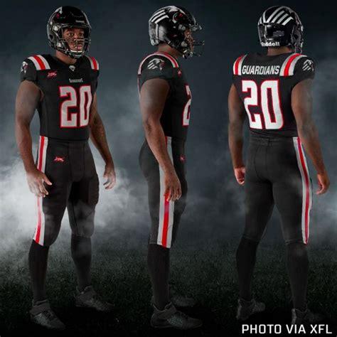 xfl unveils team uniforms   chris creamers