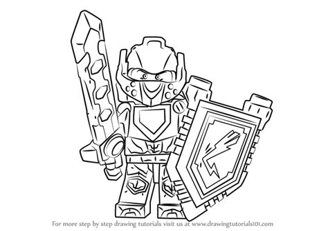 Kleurplaten Nexo Knights Clay by Step By Step How To Draw Clay From Lego Nexo Knights
