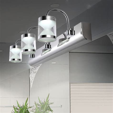 Led Bathroom Lighting Fixtures by Modern Led Acrylic Bathroom Front Mirror Lights Toilet