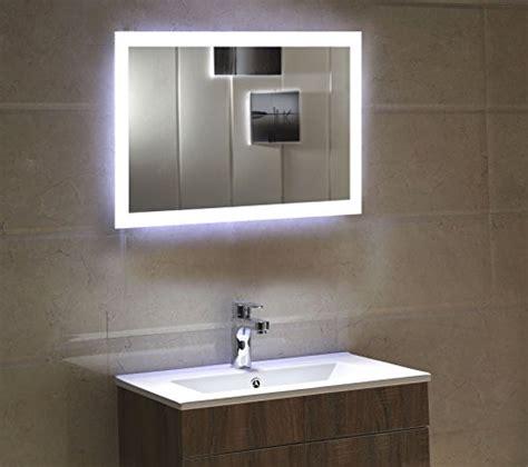 dr fleischmann badspiegel led spiegel gs084n mit beleuchtung durch satinierte lichtfl 228 chen