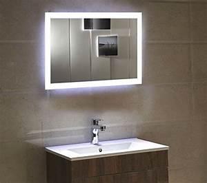Spiegel 80 X 60 : dr fleischmann badspiegel led spiegel gs084n mit beleuchtung durch satinierte lichtfl chen ~ Buech-reservation.com Haus und Dekorationen