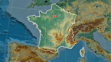 Frankreich Physische Karte der Erleichterung - OrangeSmile.com