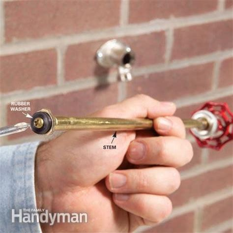 Outdoor Faucet Leaking From Stem by How To Repair A Noisy Outdoor Faucet The Family Handyman