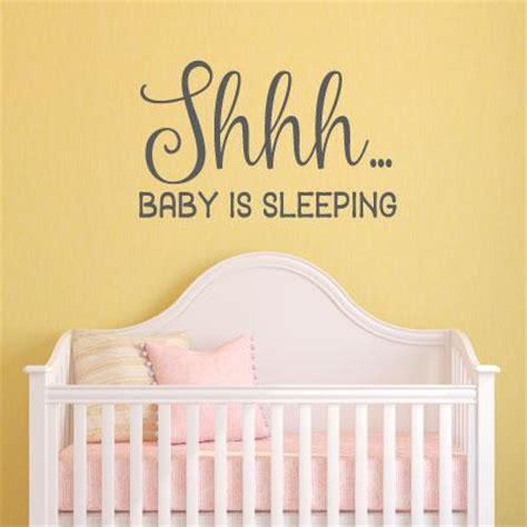 shhhh baby  sleeping wall quotes decal wallquotescom