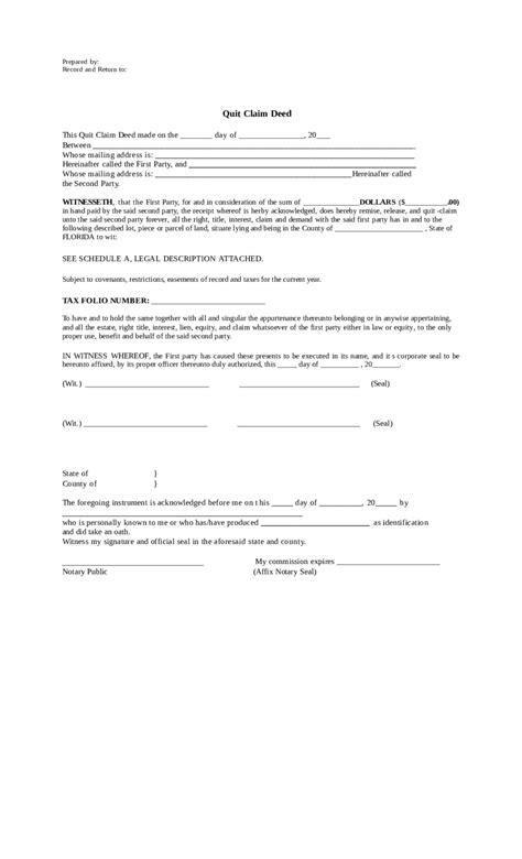 quit claim deed florida edit fill sign  handypdf