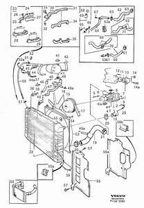 Volvo 740 Hose  Cooling  System  Outlet