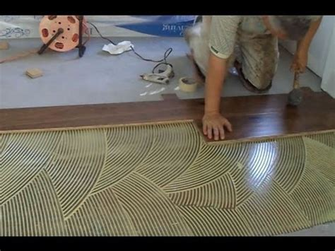 how to install hardwood floors with glue how to install prefinished hardwood floor glue down technique youtube
