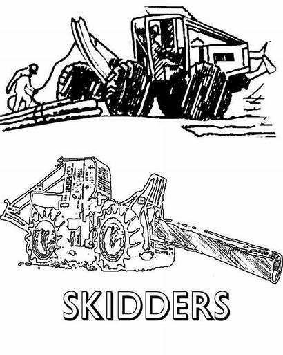 Skidder Clipart Clip Cliparts Logging Disposal Garbage