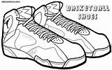 Coloring Basketball Shoes Pages sketch template