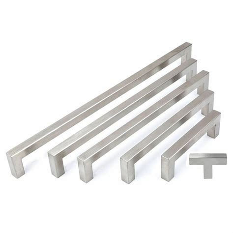 stainless steel kitchen cabinet door handles cabinet pull square handle drawer handles kitchen