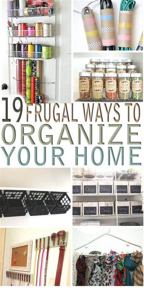 19 Frugal Ways To Organize Your Home * My Stay At Home