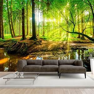 Vlies Fototapete Wald Tapete Xxl Wandbild Natur Landschaft