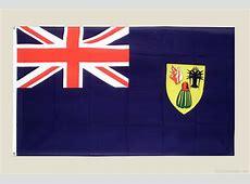 National Flag Of Turks and Caicos Islands 123Countriescom