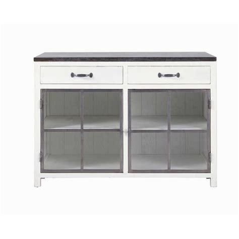 meuble de cuisine 120 cm meuble bas vitré de cuisine en bois recyclé et