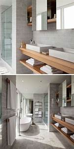 Etagere En Bois Salle De Bain : id e d coration salle de bain meuble sous lavabo salle ~ Teatrodelosmanantiales.com Idées de Décoration