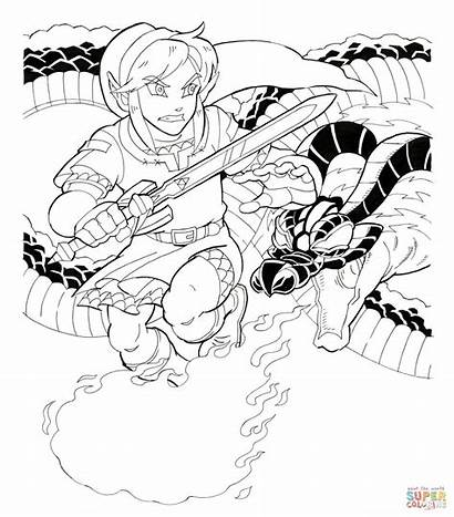 Zelda Coloring Legend Pages Link Volvagia Printable