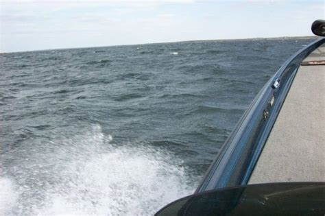 Bass Boat In Rough Water by Rough Water Bass Cat Boats