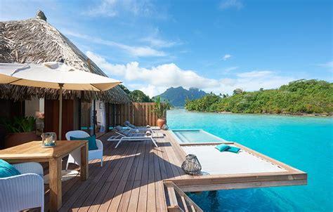 tahitis  romantic overwater bungalows  honeymooners