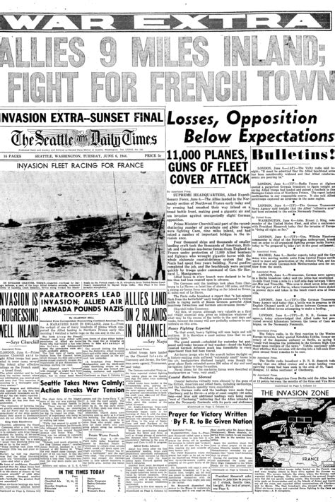 How The Seattle Times covered D-Day in 1944 | The Seattle