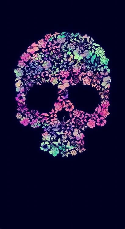 Skull Galaxy Backgrounds Sweet Desktop Purple Floral