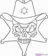 Coloring Sheriff Skulls Popular Skull Pop Draw Printable Coloringhome Library Clipart Step Clip sketch template