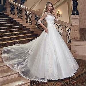 iiiusion half sleeves lace ball gown wedding dresses open With lace up back wedding dress