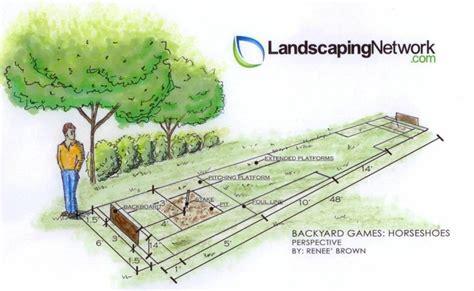 horseshoe pit dimensions horseshoes backyard games landscaping network