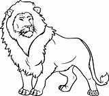 Coloring Lion Ten Bed sketch template