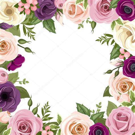 cornici con fiori cornice con fiori colorati di e lisianthus