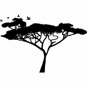Stickers Arbre Noir : sticker et autocollant mural arbre africain ~ Teatrodelosmanantiales.com Idées de Décoration