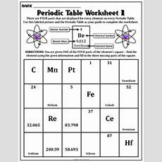 Worksheet Periodic Table Worksheet 1 By Travis Terry Tpt