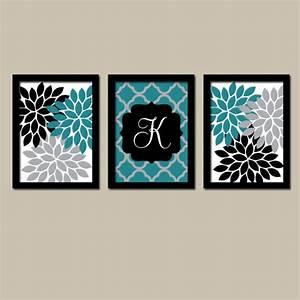 teal black wall art flower wall art bedroom canvas or prints With black wall art