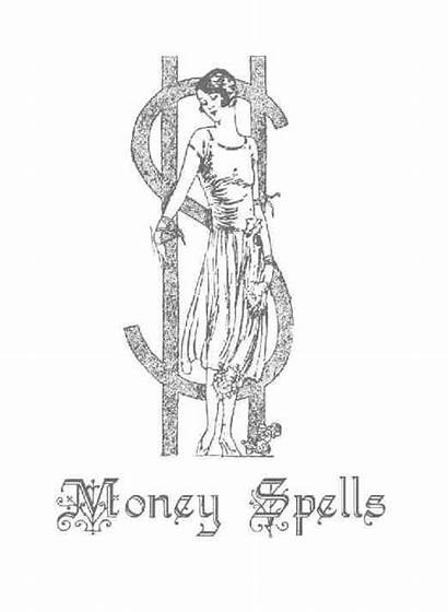 Spells Wiccan Pages Witchcraft Spell Coloring Money
