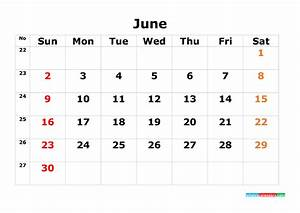 Fiscal Week Calendar 2020 Printable Calendar Template June 2019 As Pdf And Image