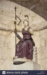 Ancient marble and porphyry statue of Minerva as Goddess ...